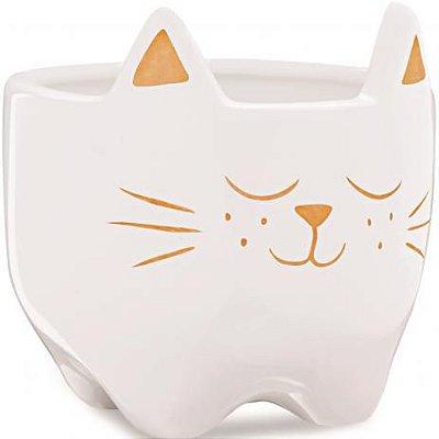 Cachepot Gato em Ceramica