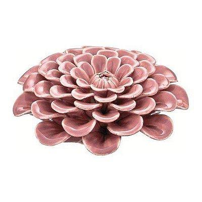 Flor Decorativa De Cerâmica Rosa 7640