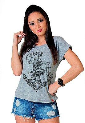 Camiseta Feminina Wevans Âncora Tattoo