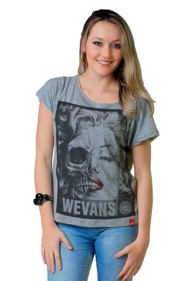 Camiseta Feminina Wevans Marylin Face Transformation