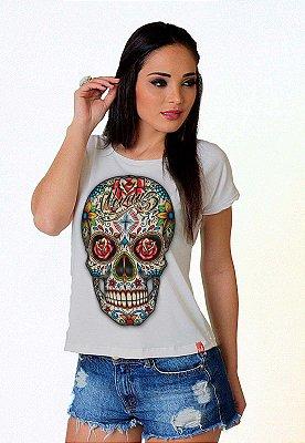Camiseta Feminina Wevans CAVEIRA MEXICANA