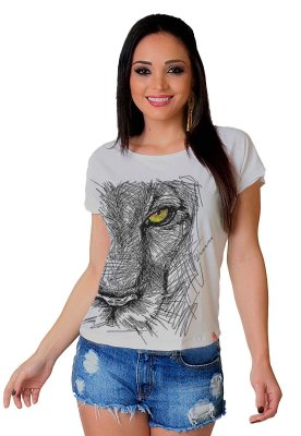 Camiseta Feminina Wevans FELINE LOOK