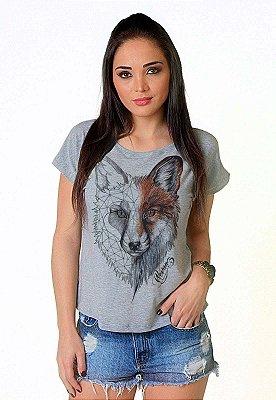 Camiseta Feminina Wevans RAPOSA STONE