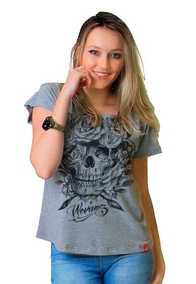 Camiseta Feminina Wevans CAVEIRA FRONT