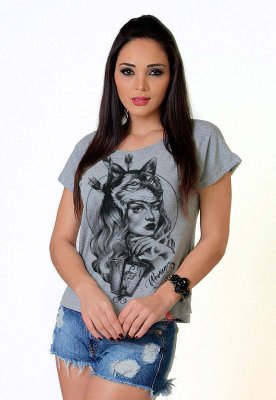 Camiseta Feminina Wevans WOLF GIRL