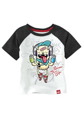 CAMISETA INFANTIL MONSTER GRAFITTI - CHUMBO