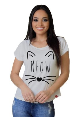 Camiseta Feminina Wevans MEOW