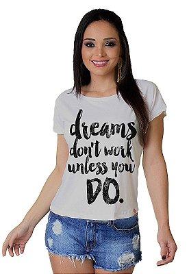 Camiseta Feminina Wevans  DREAMS