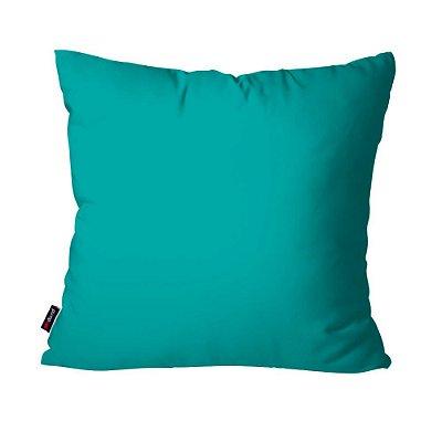 Almofada Avulsa Azul Trurquesa 45cm x 45cm