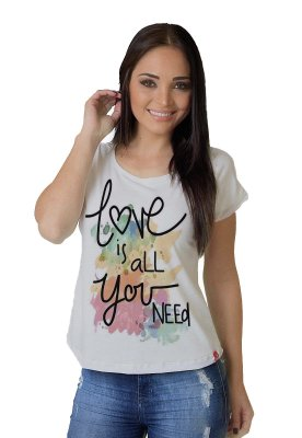 Camiseta Feminina WEVANS LOVE YOU