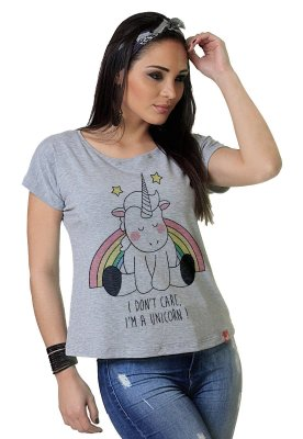 Camiseta Feminina WEVANS UNICORNIO
