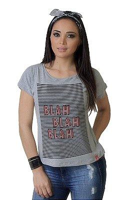 Camiseta Feminina WEVANS BLAH,BLAH,BLAH