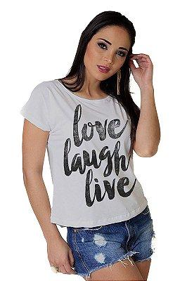 Camiseta Feminina WEVANS LOVE LAUGH