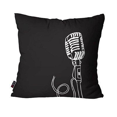 Almofada Avulsa Microfone 45cm x 45cm