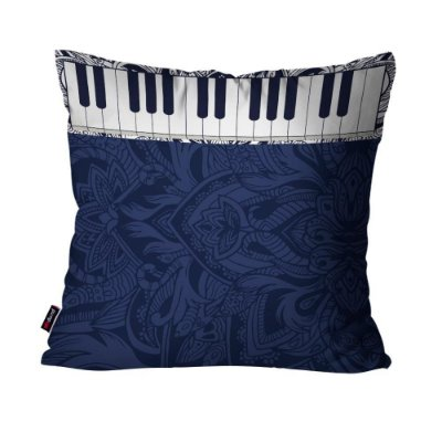 Almofada Avulsa Piano Azul  45cm x 45cm