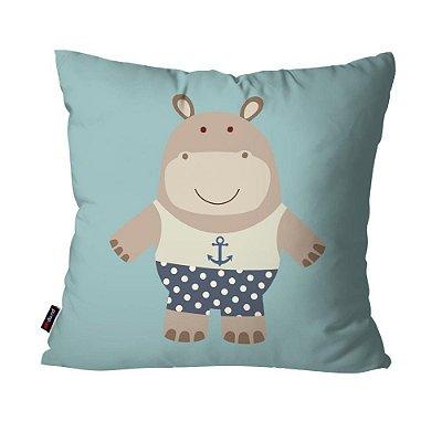 Almofada Avulsa Inf Hippo  45cm x 45cm