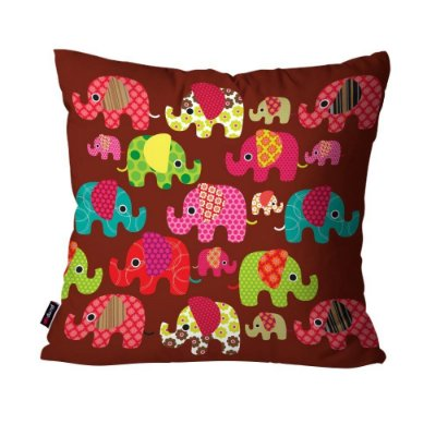 Almofada Avulsa Inf Elefantes  45cm x 45cm