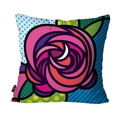 Almofada Avulsa Dec Rosa Multicolorido 45cm x 45cm