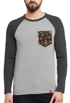 Camiseta Manga Longa Wevans Bolso Aplique Old Shool