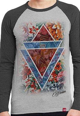 Camiseta Manga Longa Wevans Floral Geometric