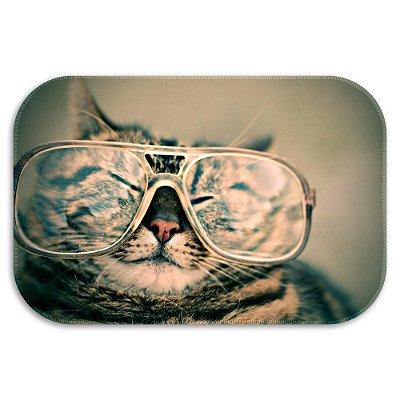Tapete Decorativo Gatos Óculos 40cm X 60cm