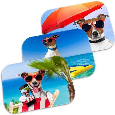 Kit 3 Tapetes Decorativos Dog Summer 40cm X 60cm