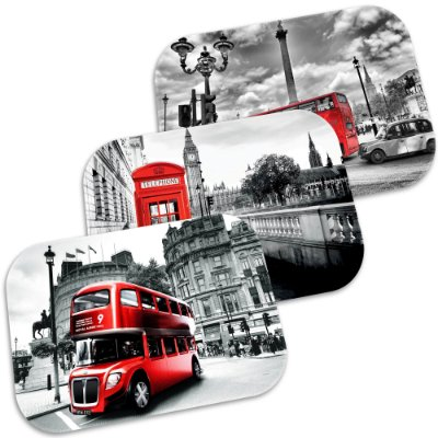 Kit 3 Tapetes Decorativos London 40cm X 60cm