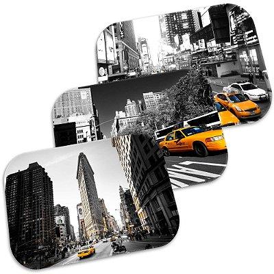 Kit 3 Tapetes Decorativos New York 40cm X 60cm