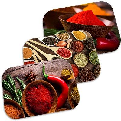 Kit 3 Tapetes Decorativos Spices 40cm X 60cm