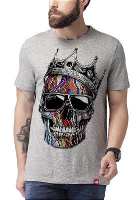 Camiseta Wevans  Caveira Coroa Cinza