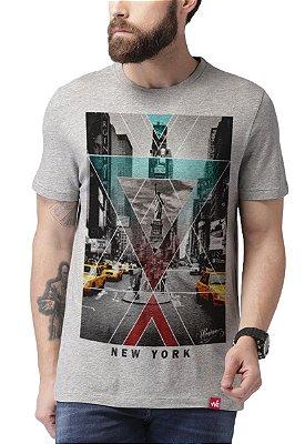 Camiseta Wevans  New York Cinza