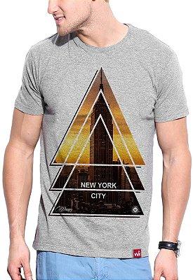 Camiseta Wevans  NYC Tringle Cinza
