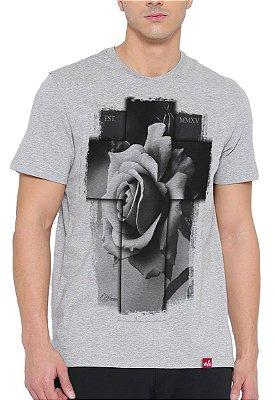 Camiseta Wevans  Cruz 3D Cinza