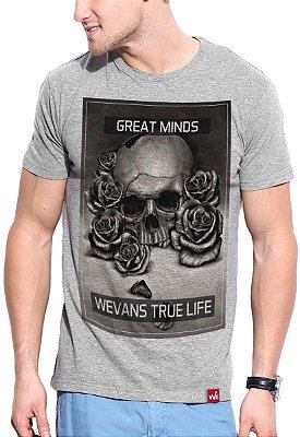 Camiseta Wevans  True Life Cinza