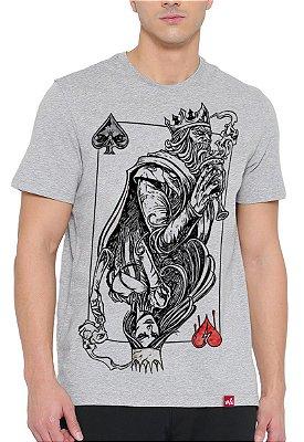Camiseta Wevans  Rei de Espada Cinza