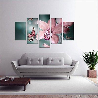 Conjunto de 5 Telas Decorativas em Canvas Beautiful