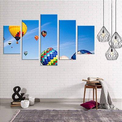 Conjunto de 5 Telas Decorativas em Canvas Ballon
