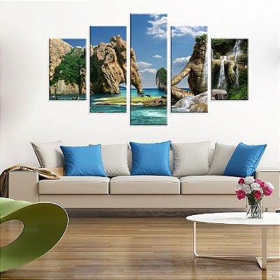 Conjunto de 5 Telas Decorativas em Canvas Maravilhas