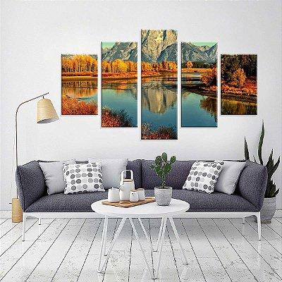 Conjunto de 5 Telas Decorativas em Canvas Outono