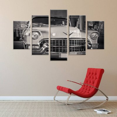 Conjunto de 5 Telas Decorativas em Canvas Car