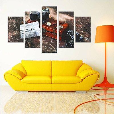 Conjunto de 5 Telas Decorativas em Canvas Fotografia