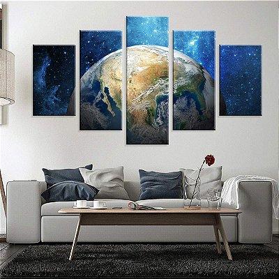 Conjunto de 5 Telas Decorativas em Canvas Terra