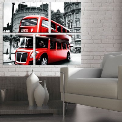 Conjunto de 4 Telas Decorativas em Canvas Londres