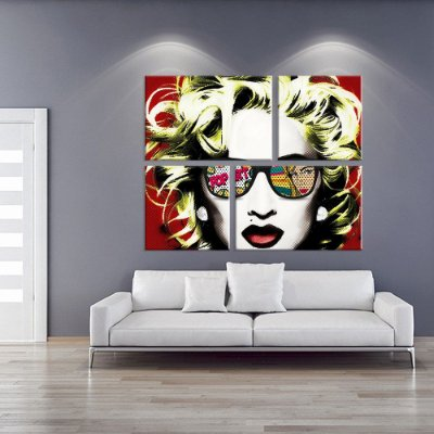 Conjunto de 4 Telas Decorativas em Canvas Marilyn Style