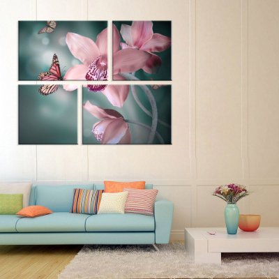 Conjunto de 4 Telas Decorativas em Canvas Beautiful