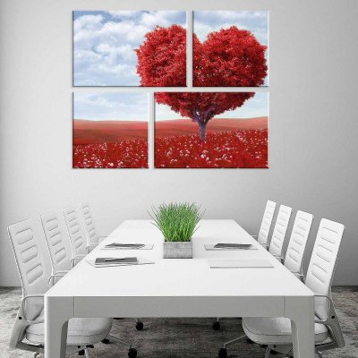 Conjunto de 4 Telas Decorativas em Canvas Love Nature