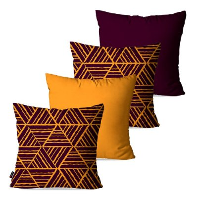 Kit 4 Almofadas Decorativas Formas Triangular 45cm x 45cm