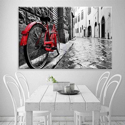 Tela Decorativa Bike Red