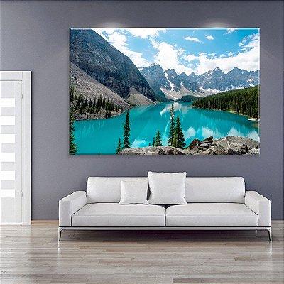Tela Decorativa Lago e Montanhas