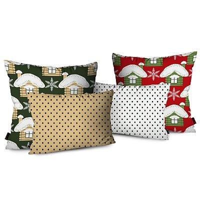 Kit 4 Almofadas Decorativas Natal